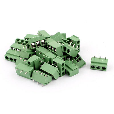 30Pcs 14-22AWG 3 Way 3P PCB Screw Terminal Block Wire Connector 5.08mm Pitch