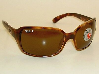 New RAY BAN Sunglasses Brown Frame  RB 4068 642/57  Glass POLARIZED Brown Lenses