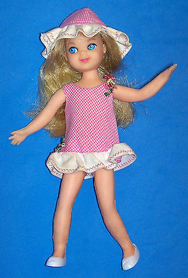 Vintage Tutti Doll #3550 Blonde Hair 1965 Barbie's Tiny Sister Orig Pink Outfit