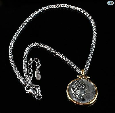 Magnificent 18K Gold Custom Made Tetradrachm Phoenicia Coin Necklace & Chain