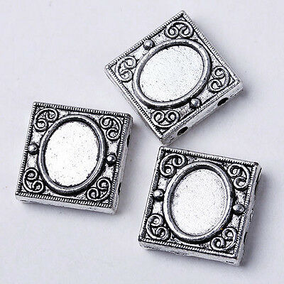 30 pcs Tibetan Silver Square Spacer Beads Findings Fashion Jewellery Gift