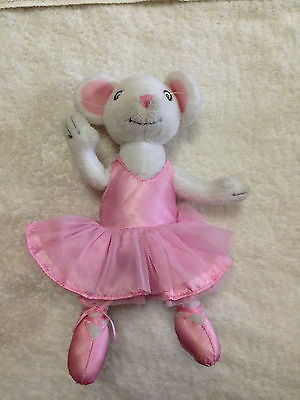 "Angelina Ballerina Poseable Mouse Plush Doll Toy 9.5"" ~ USED"