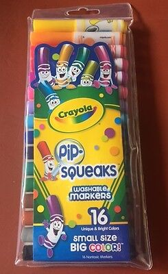 Crayola Pip Squeaks Washable Markers 16 Fun Colors,for Little Hands, Free Post