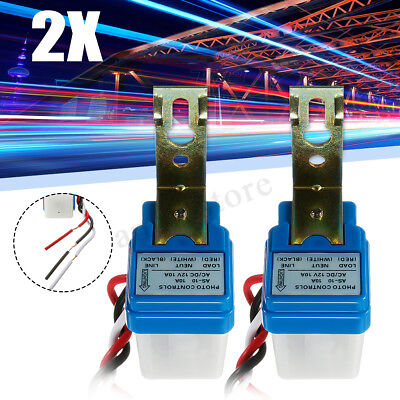 2x Auto On Off Switch Control 12V 10A Street Light Photocell Photoswitch Sensor