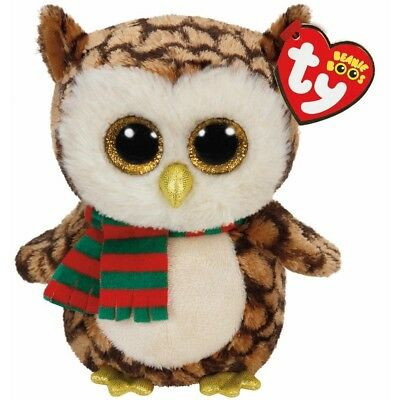 Ty Beanie Babies 36173 Boos Wise the Christmas Owl Boo