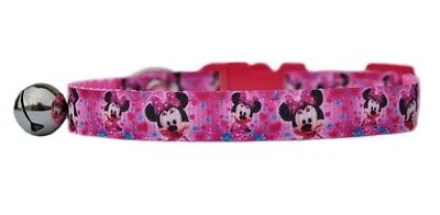 Pink Disneys Minnie Mouse  safety kitten cat collar 3 sizes