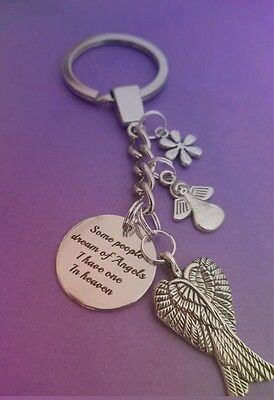 Memory/memorial angels key ring, Angels in heaven
