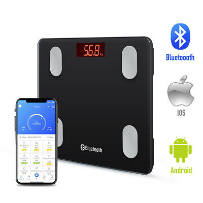 Wireless Bluetooth Digital Body Fat Smart Scale Analyser As Withings Fitbit iOS