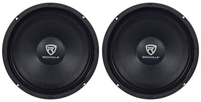 "(2) Rockville RM88PRO 8"" 8 Ohm 600 Watt SPL Midrange Mid-Bass Car Speakers"