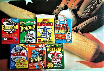 100 Baseball Cards CLOSEOUT Packs Old Vintage LOT Topps Fleer ++ Rookies GIFT ??