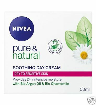 Nivea Pure & Natural Soothing Day Cream 50ml