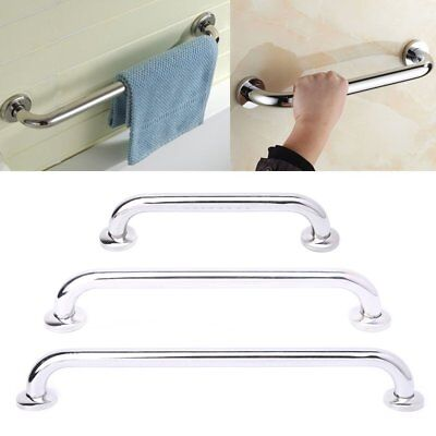 Grab Stainless Steel Bathroom Mobility Support Towel Hook Rail Disability Aid CR