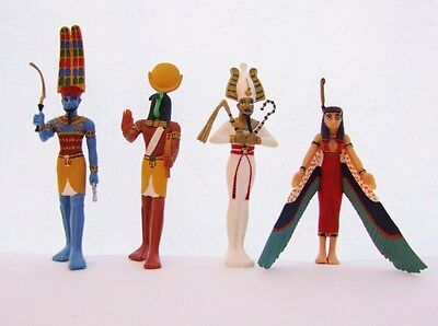 Ancient Egypt Egyptian Figures set of 4 Amon Thot Osiris and Maat New