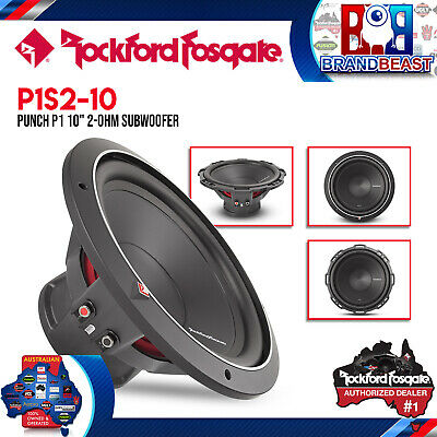 "Rockford Fosgate Punch P1 P1S4-10 10"" Svc 4-Ohm 500W Subwoofer Car Sub Audio"