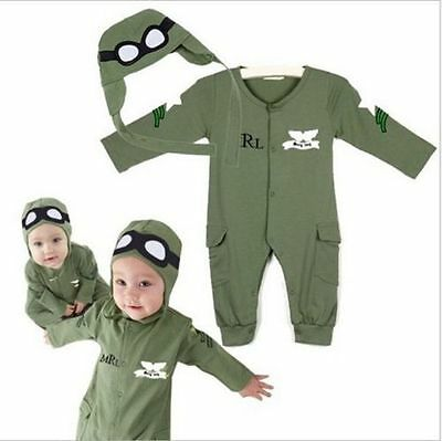 Toddler Astronauts Baby Boy Pilot Military Air Force Party Costume Outfit Set