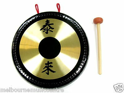 "10"" CHINESE GONG Hanging Gong *Complete With Stand & Beater* NEW!"