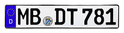 NEW European German License Plate for BMW VW Mercedes Porsche Audi