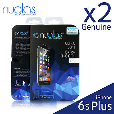 2x GENUINE NUGLAS Apple iPhone 6s Plus/ 6 Plus Tempered Glass Screen Protector