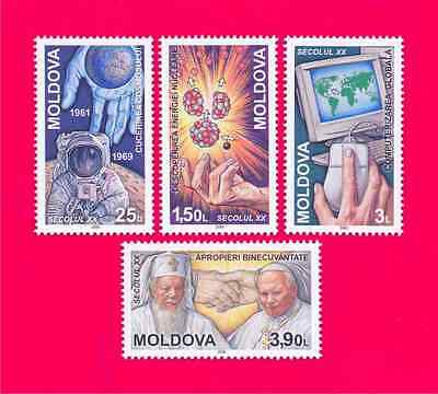 MOLDOVA 2000 Millenium Famous Events of XX 20th Century 4v Mi 357-360 MNH