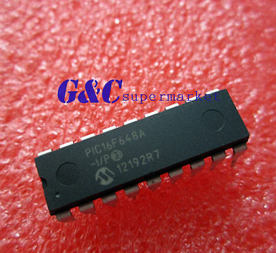 Ic Pic16F648A-I/p Pic16F648 Microchip Dip-18 New Good Quality
