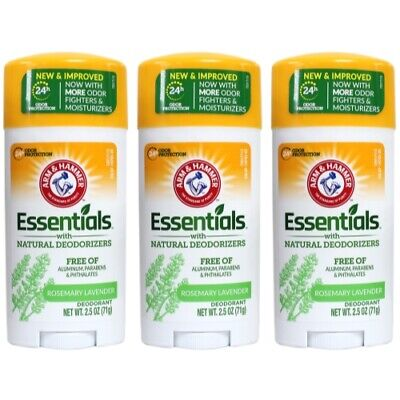 Arm & Hammer Essentials Natural Deodorant Fresh 2.5 oz (Pack of 3)