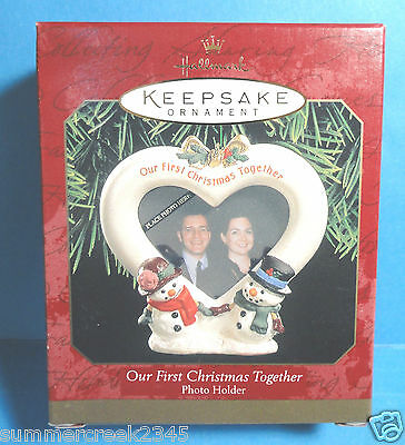 """Hallmark """"Our First Christmas Together"""" Photo Holder Ornament 1999"""