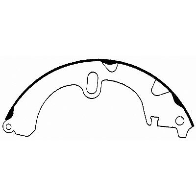 Thermoquiet Rear Drum Brake Shoes Set Wagner Pab551 Reman Fits Chevy