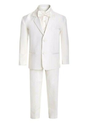 Boys Kids Children Formal Dress Tuxedo Ivory Infant Toddler  S-XL  2T-4T  5-20