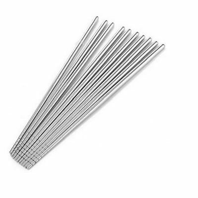 Environment Stainless Steel Chopsticks Chinese Stylish Metal Silver