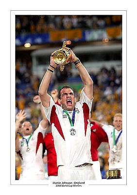 Martin Johnson World Cup 2003  A4 Print Photo England Rugby Union  2015