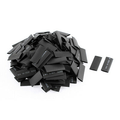 180pcs 7mm Dia Polyolefin 2:1 Heat Shrink Tubing Wire Wrap Sleeve 30mm Black