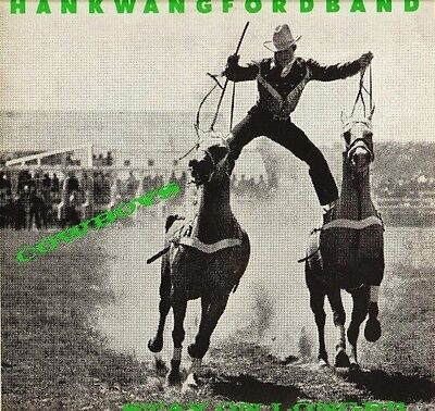 "HANK WANGFORD BAND cowboys stay on longer HONKY 1X uk sincere 1987 12"" PS EX/EX"