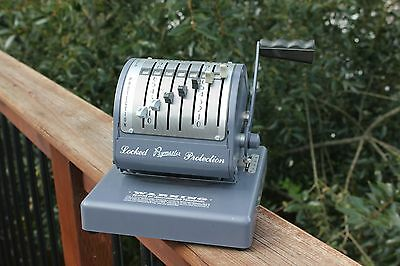 Vintage Paymaster Type X-550 - Grey - Check Writer Machine - Tested and works