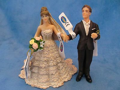 PAPO FIGURE THE BRIDE & GROOM WEDDING married FIGURINES 39071 39067 cake tuppers