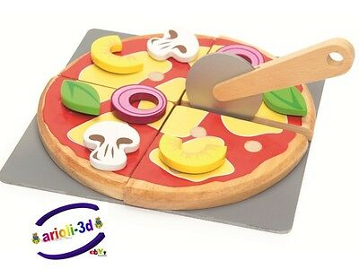 Create Your Own Pizza Le Toy Van New Tv274 Meal Honeybake With Pizza Cutter Wood
