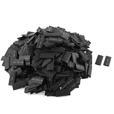 535pcs 8mm Dia Polyolefin 2:1 Heat Shrink Tubing Wire Wrap Sleeve 30mm Black