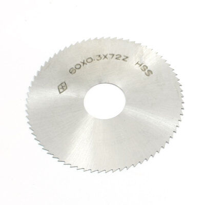 60mm OD 0.3mm Thick 16mm Arbor 72 Teeth Circle Mill Cutter Slitting Saw