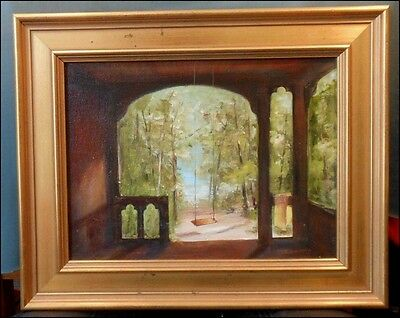 Bar Harbor Swing, Maine Framed 9x12, original oil painting by Celene Farris