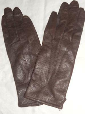 Ladies Fownes Genuine Leather Gloves, XLarge, Chocolate