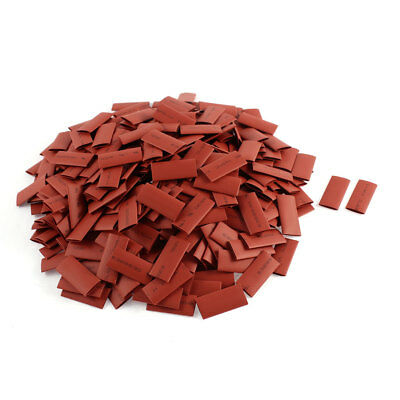 360pcs 8mm Dia 30mm Long Polyolefin 2:1 Heat Shrink Tubing Wire Wrap Sleeve Red