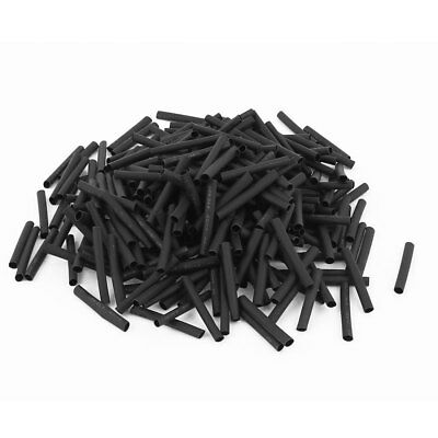 280pcs 2.5mm Dia 30mm Long Polyolefin Heat Shrink Tubing Wire Wrap Sleeve Black