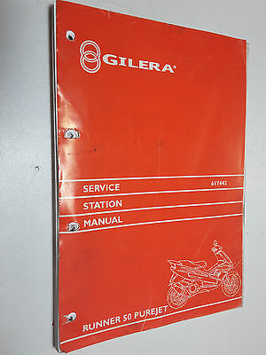 Genuine Gilera  Runner 50 Purejet - Workshop Service Station Repair Manual