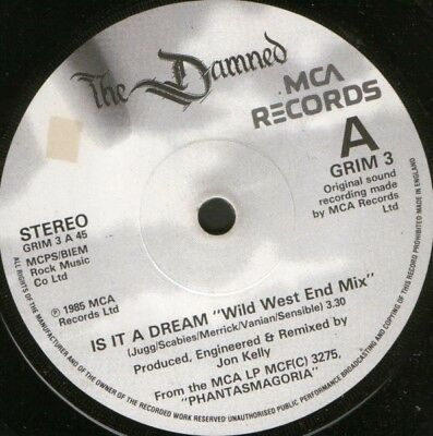 "DAMNED is it a dream 7"" WS EX/ uk mca GRIM 3"
