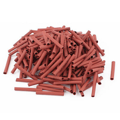 280pcs 2.5mm Dia 30mm Long Polyolefin Heat Shrink Tubing Wire Wrap Sleeve Red