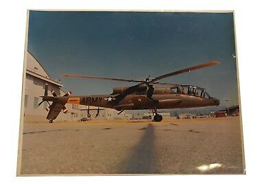 Vintage Military Color Photograph Army Helicopter 20 x 16