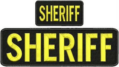 Sheriff embroidery Patch 4x10  and 2x5 Velcro