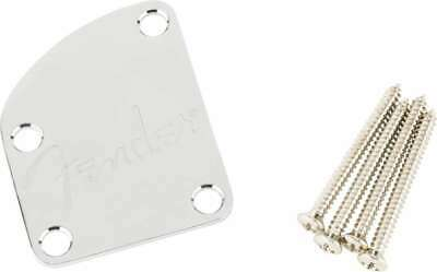 Genuine Fender American Deluxe 4 Bolt Neck Plate Chrome 005-9209-000 NEW