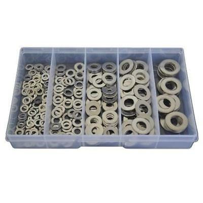 Qty 225 Flat Washer Kit M5 M6 M8 M10 M12 Stainless Steel Grade SS 304 A2 #126