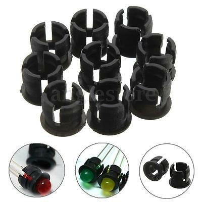 100Pcs 5mm Plastic LED Clip Holder Case Cup Mounting Black USA shipping