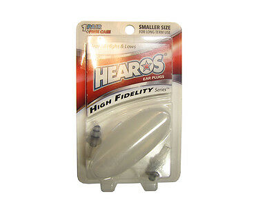 HEAROS EAR PLUGS Professional Hi Fidelity *SMALLER SIZE* NEW!